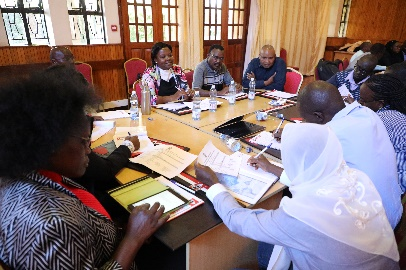 KNEC experts working on exercises